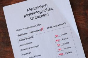 bestandende medizinisch psychologische Untersuchung